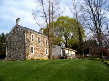 Old stone home, colonial-era home, New Jersey, back yard, Early AMerican home