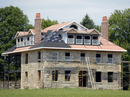 Stone House, Mystic, Connecticut, granite walls, old stone house, restoration, renovation