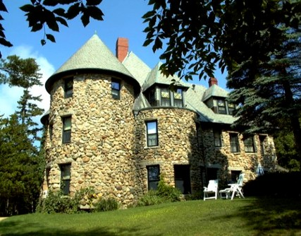 Wentworth Castle, stone castle, old stone home, Jackson, New Hampshire, White Mountains, historic home