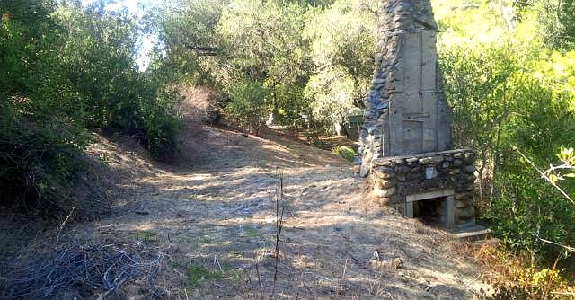 Old Stone Chimney, Modjeska Canyon, old stone home, California homestead