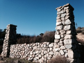 old stone ruins, stone remains, old stone homes, California, early settlers, homesteaders