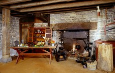 Belle Grove Plantation, Middleton, Virginia, Open Hearth cooking, holiday home tour, Christmas home tour, old stone house, old stone home