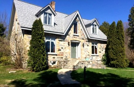 Old stone home for sale, old stone house for sale, Crystal Lake, Beulah, Michigan, lakefront homes, Michigan waterfront properties, historic homes for sale
