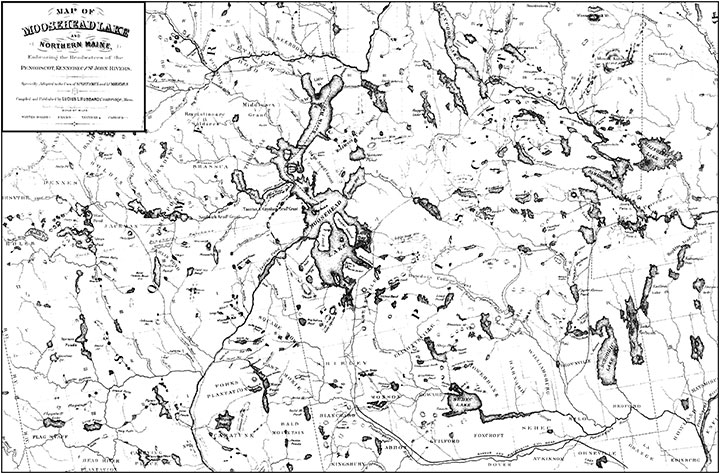 Maps : Old Tales of the Maine Woods