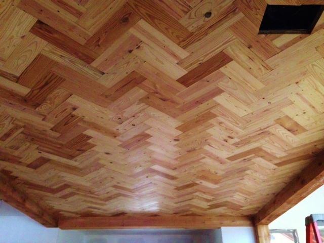Patterned Ceiling  Old Texas Wood