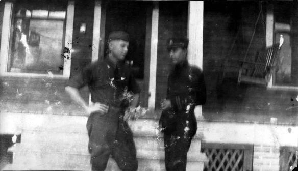 R.D. McCulloch with Jasper Baker in uniform, 1917.