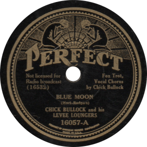 "Chick Bullock sings Rodgers and Hart's famous ""Blue Moon"", recorded December 22, 1934."