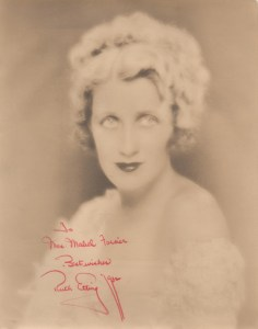Ruth Etting, circa 1930 (signed in 1932).