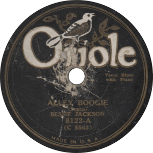 Alley Boogie, recorded March 1930 by Bessie Jackson.