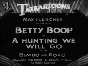 Betty Boop – A Hunting We Will Go