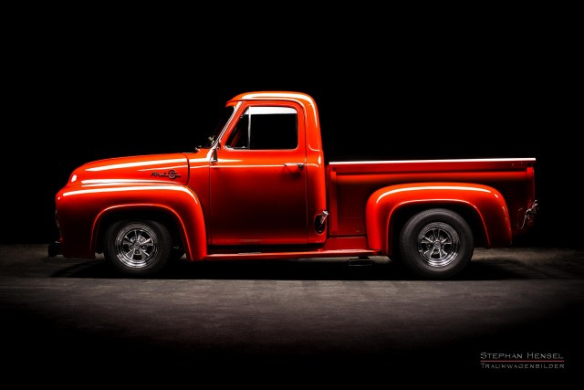 Ford F100, Pick-Up Truck, Fahrerseite. Oldtimer Fotograf: Stephan Hensel, Hamburg