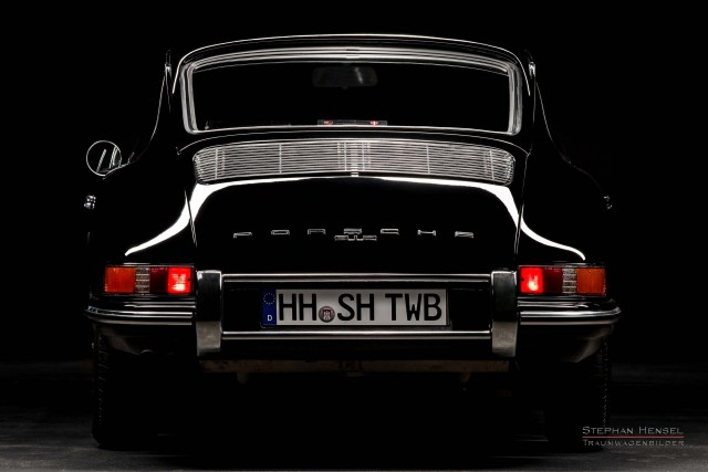 PORSCHE 912, Studioaufnahme, Ansicht von hinten, Oldtimer Fotograf: Stephan Hensel, Hamburg