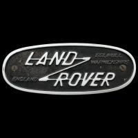 Logo Land Rover auf einem Serie IIa 109 FWC
