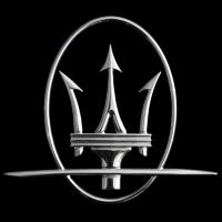 Logo Maserati auf einem Ghibli (ab 2014)