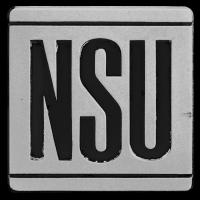 Logo NSU Ro 80 auf Motorhaube