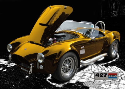Shelby Cobra 427 Poster by aRi F. in copper