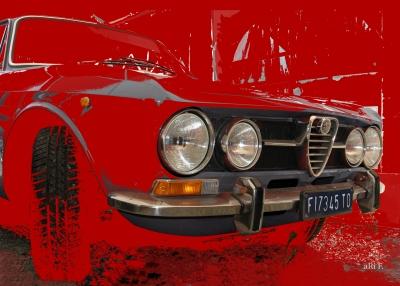 Alfa Romeo 1750 GT Veloce in red