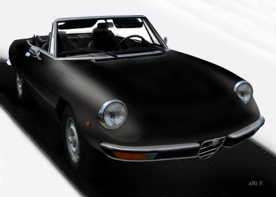 Alfa Romeo Spider in black & darkblack 02