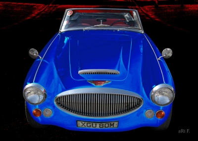 Austin-Healey 3000 Mk 3 BJ8 in black & blue