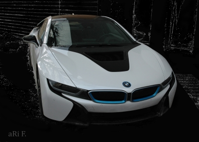 BMW i8 in black & white (Originalfoto)