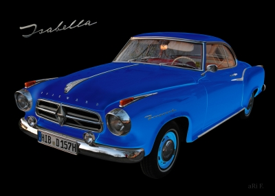 Borgward Isabella Coupé in black & blue