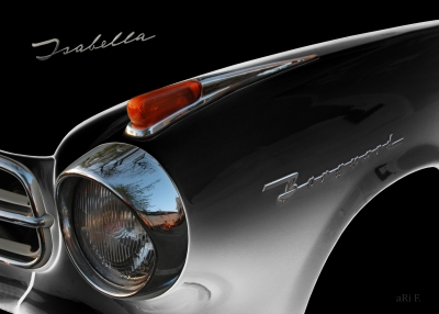 Borgward Isabella front detail in black & black