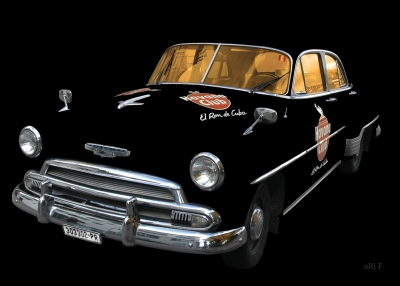 Chevrolet Deluxe with Havanna Club only chrome & glass