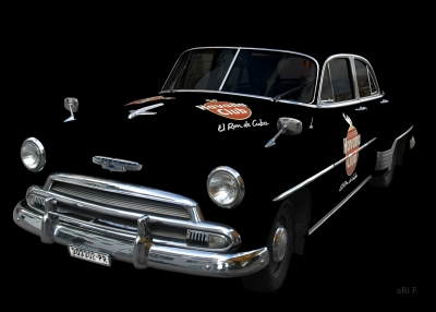 Chevrolet Deluxe with Havana Club only chrome & glass