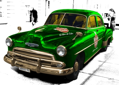 Chevrolet Deluxe with Havanna Club in special green & white