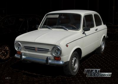 Fiat 850 Special Poster in Originalfarbe