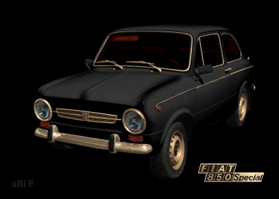 Fiat 850 Special black & gold