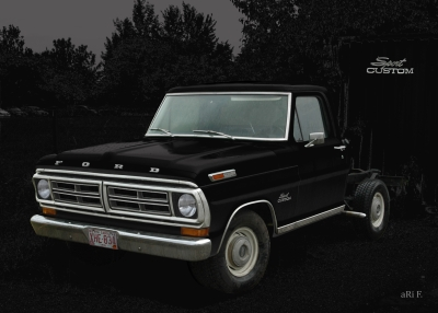 Ford F-100 in black & black (1973–1980)