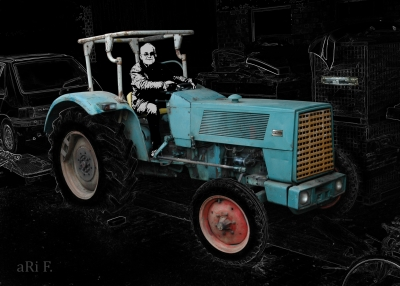 Hanomag Brillant 601 in black & grey