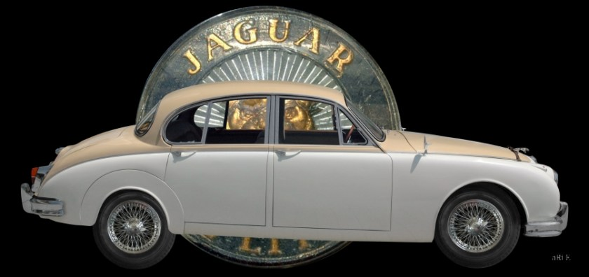 Jaguar Mark 2 Poster with authentic Logo Jaguar