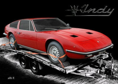 Maserati Indy Coupé Poster in original color