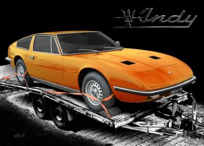 Maserati Indy Coupé in black & orange mix