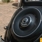 Mercedes-Benz Typ 170 D Heckansicht mit der Aufschrift DIESEL