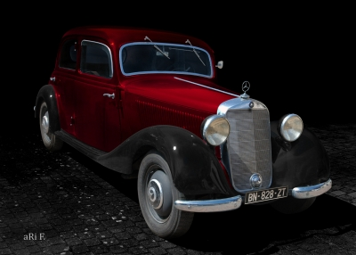 Mercedes-Benz Typ 170 D Poster in black & red