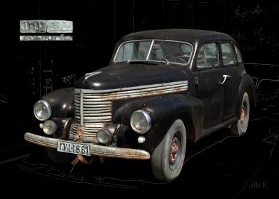 Opel Kapitän 1938 in black & dimgrey