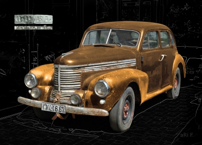 Opel Kapitän 1938 in black & copper-sienna