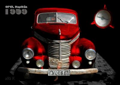 Opel Kapitän '39 in black & red in front view 02