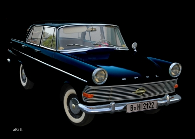 Opel Rekord P2 in black & blue