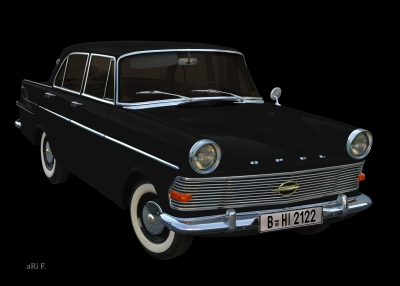 Opel Rekord P2 all in black