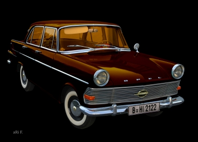 Opel Rekord P2 in black & copper