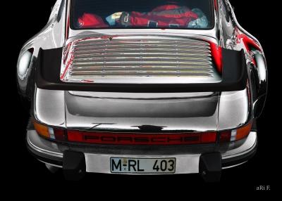 Porsche 911 G-Modell Poster in grey by aRi F.