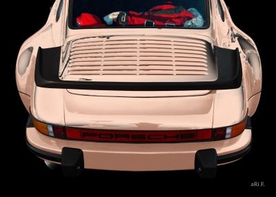 Porsche 911 G-Modell Poster in beige colors