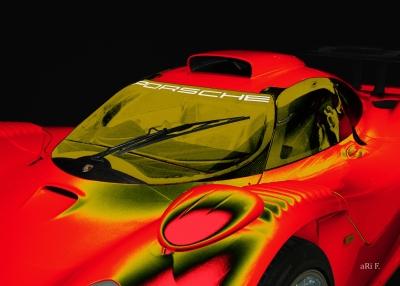 Porsche 911 GT1 Poster in red
