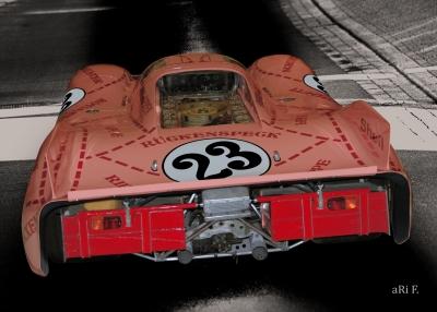 Porsche 917/20 Poster (Originalfarbe) Die Sau
