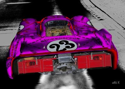 Porsche 917/20 (Die Sau) Poster in pink