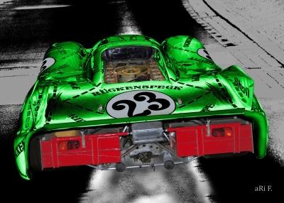 Porsche 917/20 (Die Sau) Poster in green